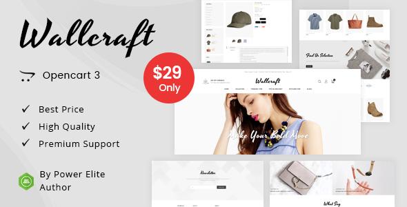 Wallcraft - Multipurpose OpenCart 3 Theme