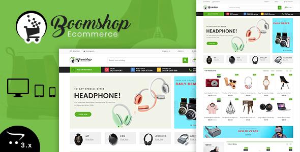 Boomshop 3.0.X Opencart MultiPurpose Responsive Theme