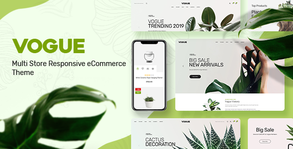 Vogue - Plant Store Opencart Theme (Included Color Swatches)
