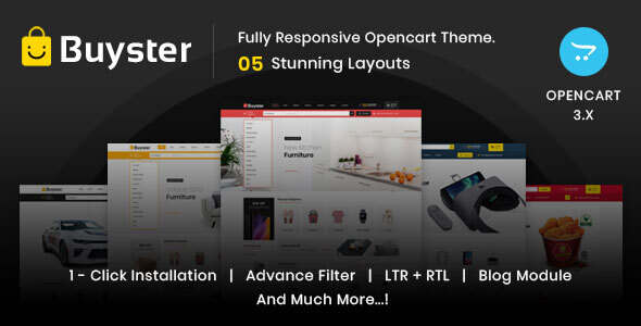 Buyster Multipurpose - Responsive Opencart 3.0 Theme