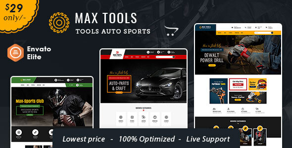 Max Tools - Opencart Multi-Purpose Equipment Theme