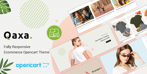 Qaxa - Responsive Fashion OpenCart 3 Theme