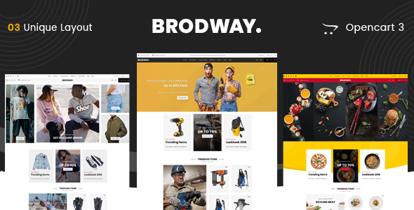 Brodway - Multipurpose OpenCart 3 Theme