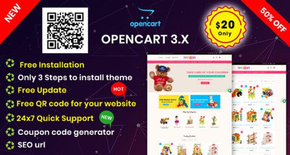 KidsToys OpenCart 3.X Multipurpose Theme