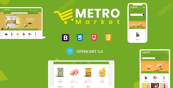 Metro Market - Grocery Store Opencart Theme