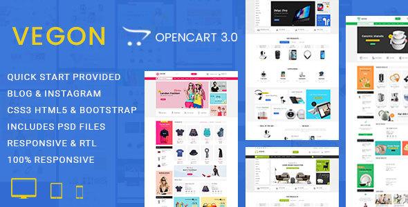 Vegon - Responsive Opencart 3 Theme