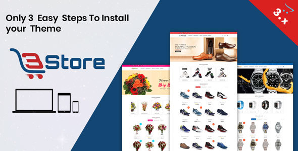 3store OpenCart 3.X Website Template(Watch,flower,shoes)