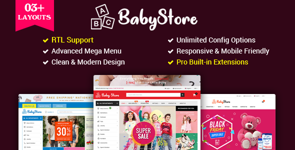 BabyStore - Multipurpose Baby and Kids Store OpenCart 3 Theme