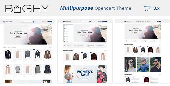 Baghy - Multipurpose Responsive Opencart 3 Theme