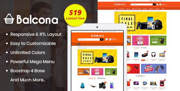 Balcona - The Multipurpose Store OpenCart 3 Theme