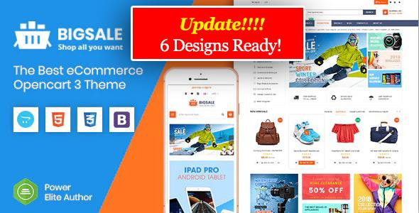 BigSale - The Multipurpose Responsive SuperMarket Opencart 3 Theme ( 6 Designs Ready!)