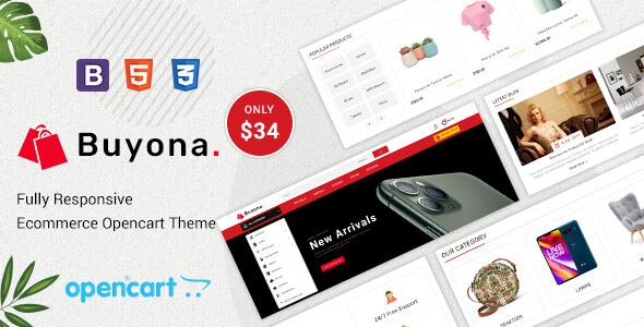 Buyona - Multipurpose Responsive Opencart Theme