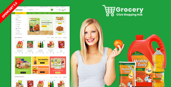 Grocery OpenCart 3.X Multistore Theme (Shopping, Mall)
