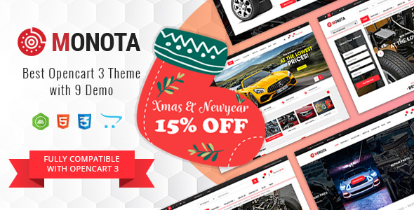 Monota - Auto Parts, Tools, Equipments and Accessories Store Opencart Theme
