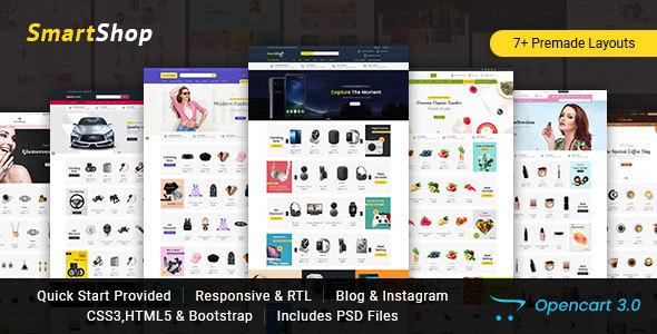 SmartShop - Multipurpose Opencart 3 Responsive Theme