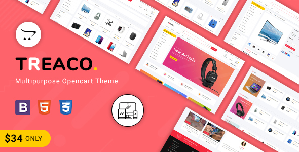 Treaco - Multipurpose E-commerce Opencart 3 Theme