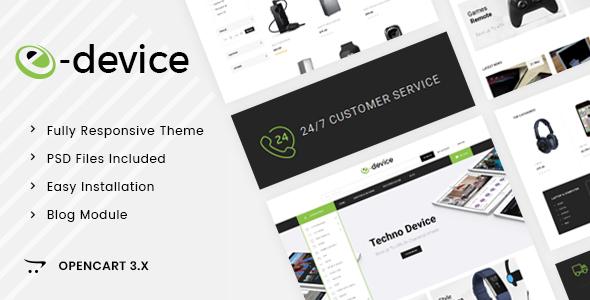 eDevice - OpenCart 3.x Responsive Theme