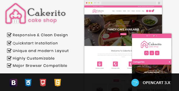 Cakerito - Cake Shop Opencart 3.x Responsive Theme