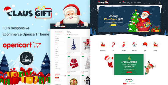 ClausGift -  Opencart 3 Multi-Purpose Responsive Theme
