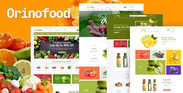 Orinofood - Organic Opencart Theme