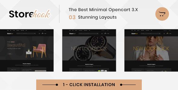 Storehook Minimal - Responsive Opencart 3.0 Theme