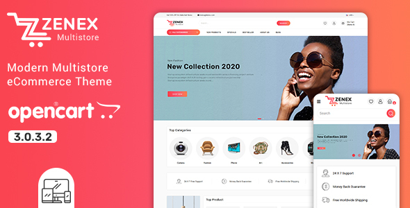 Zenex - Treaco - Multipurpose E-commerce Opencart 3 Template