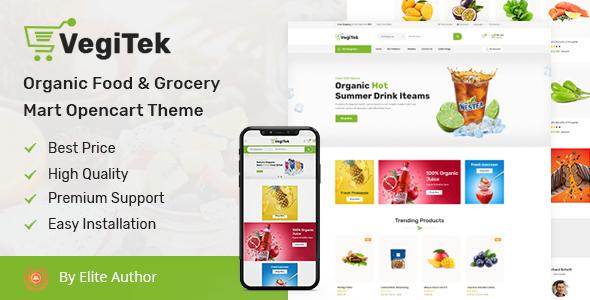Vegitek - Organic Food & Grocery Mart Opencart Theme