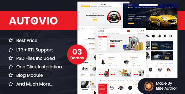 Autovio - Car Accessories, Auto Parts OpenCart Theme
