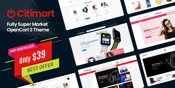 CitiMart - Fully Supermarket OpenCart 3.0.x Theme