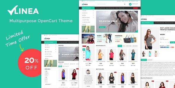 Linea - Multipurpose Responsive OpenCart Theme