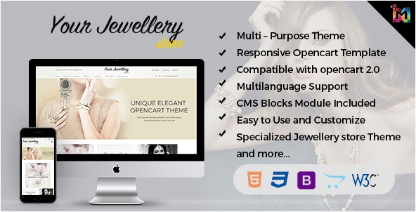 Responsive OpenCart Template - Jewelry