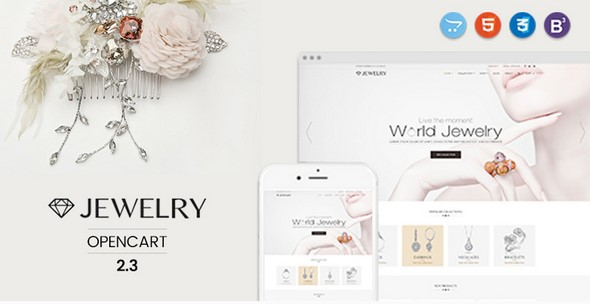 Jewelry - Responsive Opencart 2.3 Theme