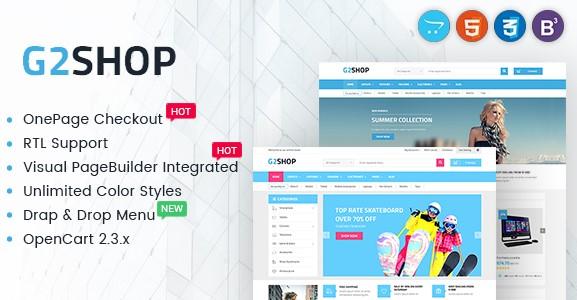 Digital eCommerce OpenCart Theme - G2shop